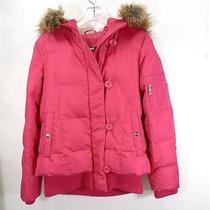 Women Dkny Riley Fuchsia Down Bomber Jacket Size S Photo