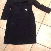 Women Dress Size 8 by Liz Claiborne Black Nice Dressy Dress. Euc Photo