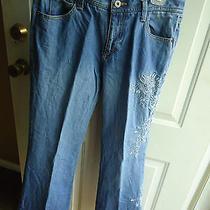 Women Eddie Bauer Jeans/pants Size 8p Decorative Design on Leg Photo