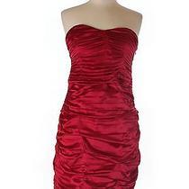 Women Express Red Bodycon Silk Dress 12 Photo