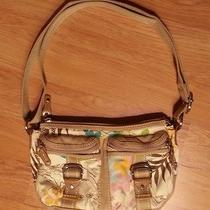 Women Fossil Modern Vintage Tan Floral Purse Nice Photo