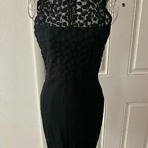 Women French Connection Black Lace Sleeveless Dress Size 6 Photo