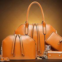 Women Handbag Shoulder Bag Tote Purse Leather Lady Messenger Hobo Bag 3pcs/set Photo