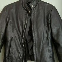 Women Hudson Leather Black Biker Motorcycle Style Size S Authentic Photo