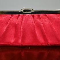 Women Ladies Red Evening Clutch With Gold Plated Chain Photo