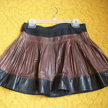 Women Leather skirtpleated.a.l.c.made in Usa of Italian Leather. Photo