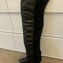 Women Leather/stretch Material/ Guess/ Over the Knee Boots/size 8-8.5/great Cond Photo