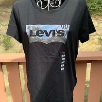 Women Levis Black Short Sleeve T Shirt Size S New 24 Photo