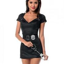 Women Lingerie Costume Bedroom Officer Dress Panty Black White Fantasy Role Play Photo