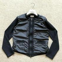 Women Moncler Sweater Jacket Cardigan Top Jumper Long Sleeve Sz Xs Grey Pullover Photo