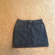 Women Mossimo 5-Pocket Denim Mini Skirt Sz 10 Photo