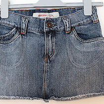 Women Mossimo Denim Mini Skirt Size 1 Photo