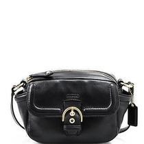 Women Nwt Coach F25150 Campbell Black Leather Shoulder Camera Crossbody Bag 258 Photo
