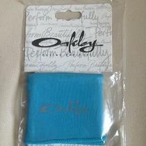 Women Oakley O Sunglasses Sports Key Cuff Running Outdoors Gym Microfiber Blue Photo
