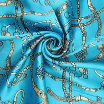 Women Pop Elements Blue Square Scarf Gift S38 Photo