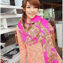 Women Rose Leopard Scarf Element of the New Wild Long Scarf Shawl Photo