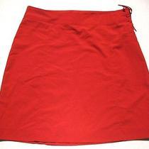 Women's 10 Patagonia Water Girl Red Nylon Stretch Skirt Side Tie Aline Skirt Eue Photo