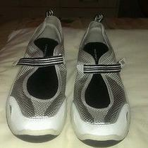 Women's 10b Water Shoes Water Aerobics Boating Lands End White Mesh Rubber Soles Photo