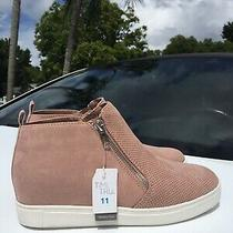 Womens 11 Time and Tru Sneaker Wedge Bootie High Top Athletic Urban Zip Shoes Photo