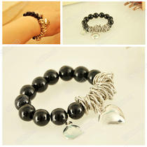 Women's 1pcs Beads Heart Imitation Pearl Lovely Bracelet New Fashion Photo