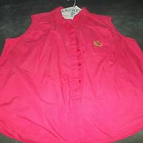 Women's 26w Dk. Pink Cotton/polyester Sleeveless Blouse by Extra Elements. Photo