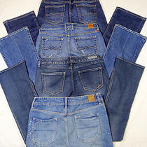 Women's  4 Pair Jeansskirt Lot  American Eagle Lucky Brand   Size 6/28  G-4 Photo
