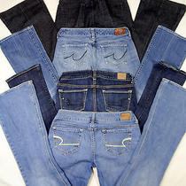 Women's 4 Piece Jeans Lot American Eagle Lucky Brand Express Size 4 Long  K-3 Photo