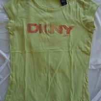 Women's 5 Green Dkny Shirt Sequence T-Shirt Tee Shirt  Photo