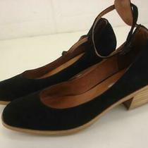 Women's 8 M Jeffrey Campbell Free People Black Suede Ankle Strap Shoes Pump Heel Photo