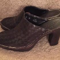 Women's 8m Donald J Pliner Sport Slide Heels Mules Shoes Photo