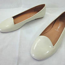Women's 9 Jeffrey Campbell Ivory Patent Leather Loafers Slip on Skimmer Flats Photo