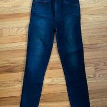 Women's Abercrombie and Fitch Dark Wash High Rise Stretch Jean/jegging Size 27/4 Photo