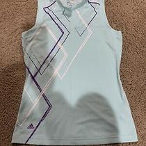 Women's Adidas Sleveless Shirt Top Golf S Small Coolmax Puremotion Teal Photo