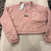 Womens Adidas Three-Quarter Zip Crop Sweatshirt Blush Small 80 Photo