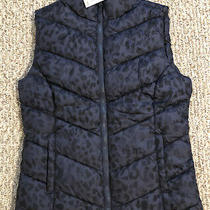 Womens Aeropostale Camo Blue Leopard Puffer Vest - Size S. New With Tags. Photo