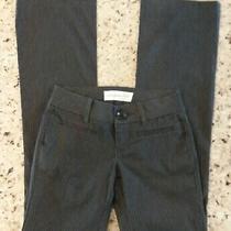 Women's Aeropostale Dark Gray Pinstripe Dress Pants in Size 0 Sku 3 Photo