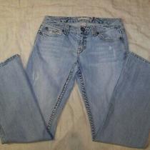 Women's Aeropostale Distressed Jeans - 5/6 R - Hailey Skinny Flare Photo