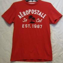 Women's Aeropostale Embroider Applique 1987 Graphic T-Shirt Red Size Xs  Photo