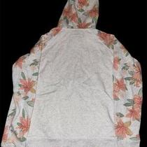 Women's Aeropostale Hooded Full Zip Jacket Size Small White Floral Hoodie Girls Photo
