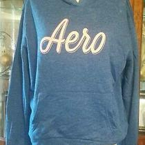 Women's Aeropostale Hoodie Size L Baggy Style Blue/ Pink Nwot Photo
