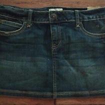 Women's Aeropostale Mini Skirt Distressed Blue Denim Jean Sz 9/10 Nwt New  Photo