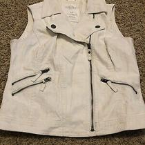 Womens Aeropostale Pretty Little Liars Vest Small Faux Leather Motor Cycle  Photo