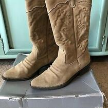 Women's Aldo Beige Suede Deseray Western Size 8.5 Boots Size 39  Photo