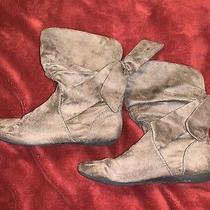 Womens Aldo Brown Suede Boots Size 38 Us 8 Photo
