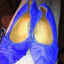 Women's Aldo Flats Suede Pointed Toe Medium Blue. Size 9. Free Shipping Photo