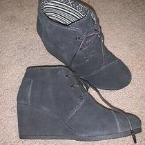 Womens Aldo Grey Suede Wedge Ankle Boots Size 8 Photo