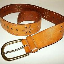 Women's Aldo Tan Leather & Brass Belt Large Photo