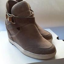 Womens Aldo Wedges Valaire Taupe Suede Sz 7.5 Photo