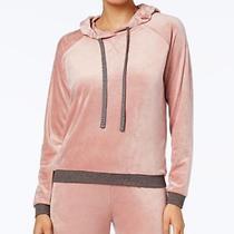 Women's Alfani Velvet Hooded Pajama Top Rosy Blush Size Xxxl Photo