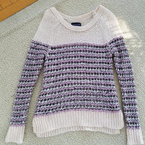 Women's American Eagle Blush Pink/purple Sweater Xs Photo